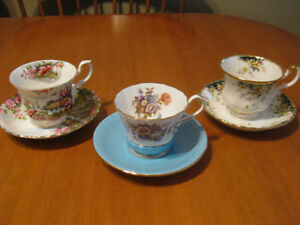 ROYAL ALBERT AND AYNSLEY TEA CUP AND SAUCERS