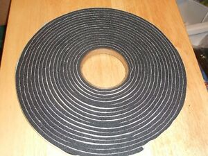 FOAM WEATHERSTRIPING -20 FT COIL, 5/8TH THICK, 1INCH WIDE. PEEL