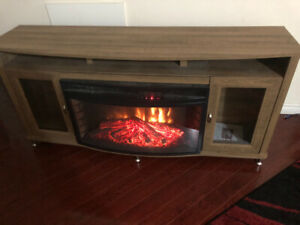 Electric Fireplace and shelf unit for sale