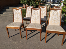 6 x G Plan Fresco mid century teak dining chairs for reupholstering