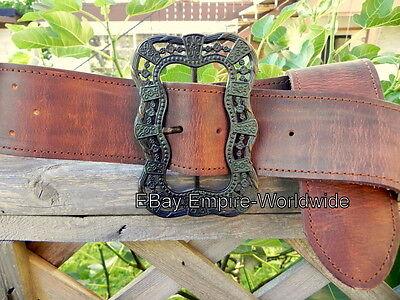 JACK SPARROW Anna Maria waist belt + buckle pirate 3 ,4 VERSION 3 (NEW LEATHER)](Jack Sparrow Belt Buckle)