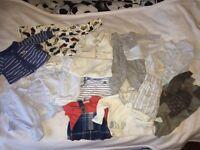 JOB LOT BABY BOY CLOTHES NEWBORN TO 6-9