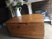 OTTOMAN PINE CHEST TRUNK FREE DELIVERY COFFEE TABLE STORAGE