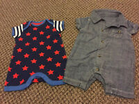 Boys romper suits (newborn 10lb) mothercare