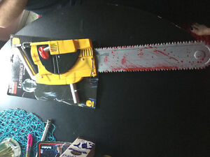 Leather face chainsaw