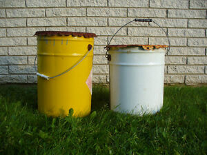 2 5-Gallon Metal Pails For Sale; Good For Making a Rocket Stove