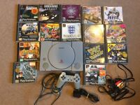 Sony ps1 PlayStation console and games