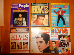 Elvis magazines from the 1980's