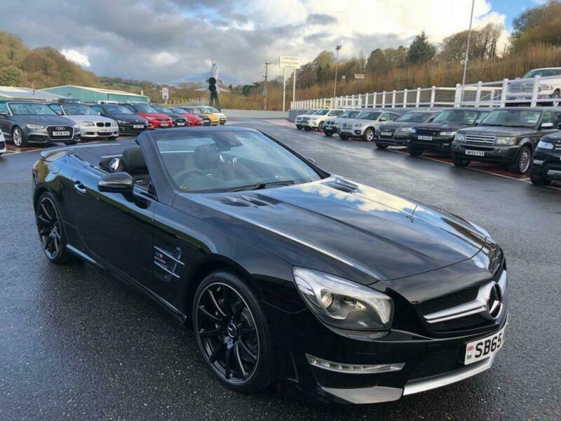 2017 65 Mercedes Benz Sl63 Amg 5 Bi Turbo V8 Convertible 577bhp In Met Black
