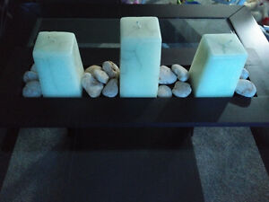 SOLD -candle & stone centre piece Kitchener / Waterloo Kitchener Area image 1