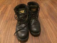 Size 8 uk black Caterpillar workboots
