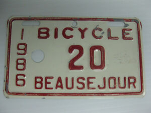 Assorted BICYCLE License Plates