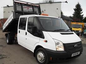 2014 FORD TRANSIT CREW D/CAB 125PS EURO 5 DROPSIDE ONE STOP TIPPER! L@@K!!