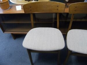 MCM  FOUR FARSTRUP TEAK BACKED DINING CHAIRS Peterborough Peterborough Area image 2