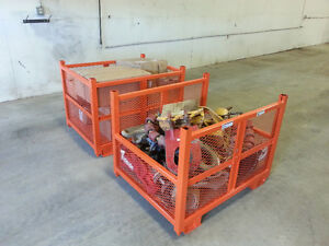 "46"" x 36"" x 34"" Stackable Steel Crates for Sale"