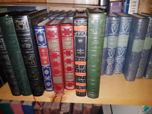 Beautiful decorative French Books - imitation leather bindings r