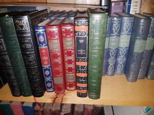 Beautiful decorative French Books - imitation leather bindings r