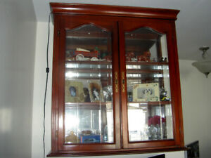 Wall hung  display case in excellent condition.