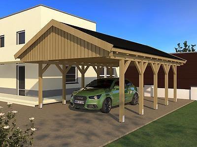 Carport Satteldach NÜRBURG VI 500x800cm Bausatz