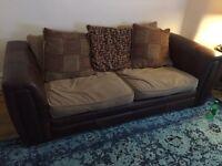 Sofa DFS brown £55