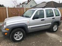 JEEP CHEROKEE CRD SPORT 4X4 ONLY 88,000 GENUINE MILES MANAUL WITH SAT NAV