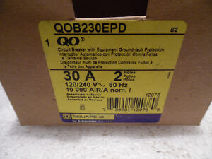 Square D GFI Ground Fault Circuit Breaker 30 Amp and 20AmpNEW Kitchener / Waterloo Kitchener Area image 2