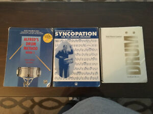 Percussion/drum books for sale $15