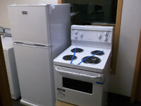 "ENSEMBLE FRIGO,POELE NEUF 24"" / PAIR NEW FRIDGE,STOVE 24"""