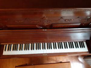 Woven Mahogany Upright Piano $100