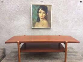 Floating Top Mid Century 1960s Danish Style Coffee Table