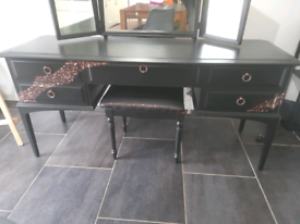Stag dressing table copper and black