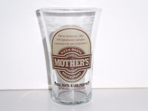 VINTAGE MOTHER'S PIZZA RESTAURANT AUTHENTIC GLASS -- MINT