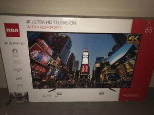Tv RCA 65 pouces 4k JAMAIS UTILISÉE