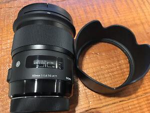 Sigma 50mm 1.4 ART Canon EF Mount