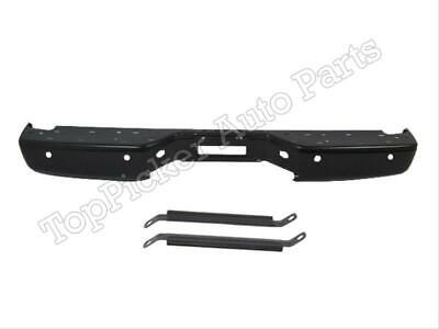 For 2004-2013 Titan Rear Step Bumper Face Bar Black Brace Bracket W/Sensor Hole