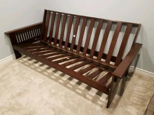 Wooden futon frame