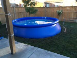 Intex pool 15 foot with ladder and pump.