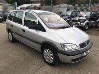 Vauxhall/Opel Zafira 1.6i 16v Club 2001 Only 96K & 12 Months Mot