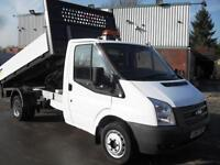 63 REG FORD TRANSIT ALUMINIUM ONE STOP TIPPER WITH TAIL LIFT,125PS, 19,000 MILES