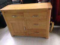 4x1 oak sideboard new sale