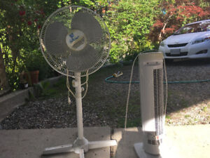 2 fans for sale for cool summer days