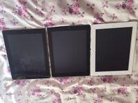 iPads x3 faulty