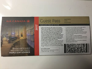 Air Canada Maple Leaf Lounge Guest Pass
