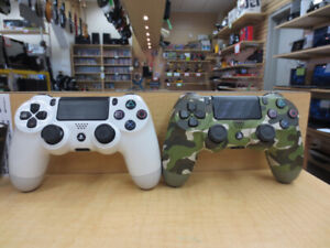 We have two PS4 controllers for sale. Both in good condition,
