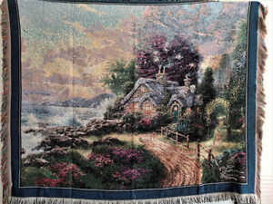 Thomas Kinkade and Crown Crafts Wall Tapestry / Throw