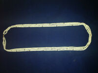 AUTHENTIC VINTAGE CULTURED PEARL NECKLACE 14KT SOLID GOLD CLASP
