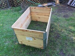 Collapsible  metal hinged modular wood crates  Kawartha Lakes Peterborough Area image 2