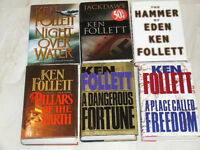 11 different books by acclaimed author Ken Follett