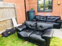 Leather sofa 3 seater + 2 seater