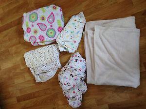 Crib sheets and blankets